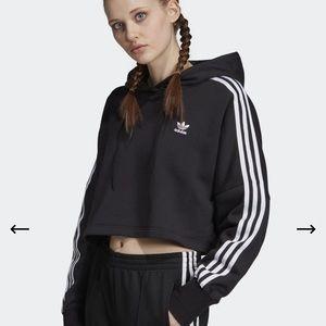 Adidas Cropped Hoodie Black XS